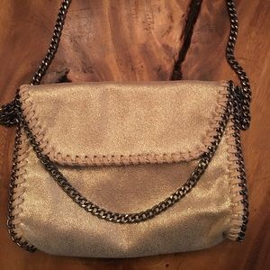 Handbags - Cross body gold purse
